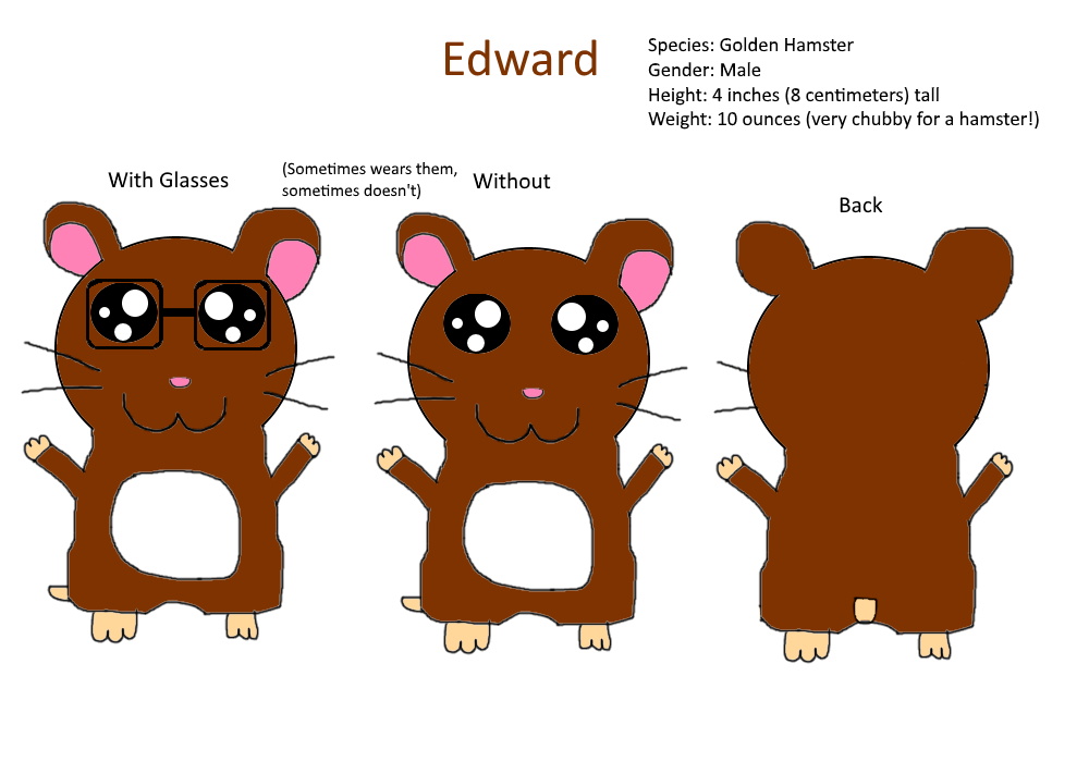 Most recent image: Edward The Hamster Ref Sheet