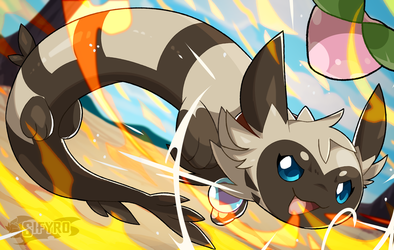Furret learned Flamethrower!