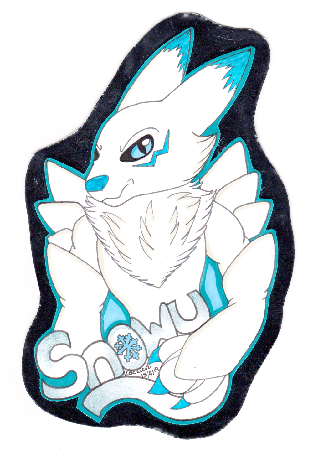 Snowy! - Bust badge