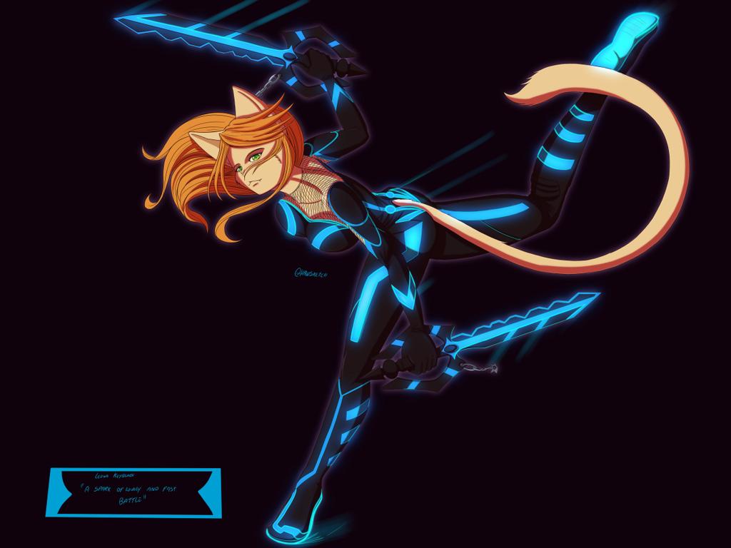 Keyblade Leona by Hawlus