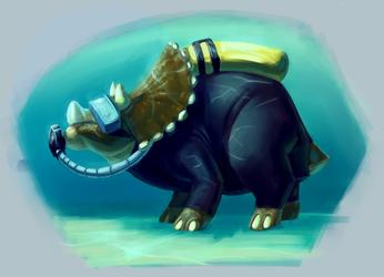 Scuba Triceratops