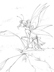 Coloring book page - Faerie