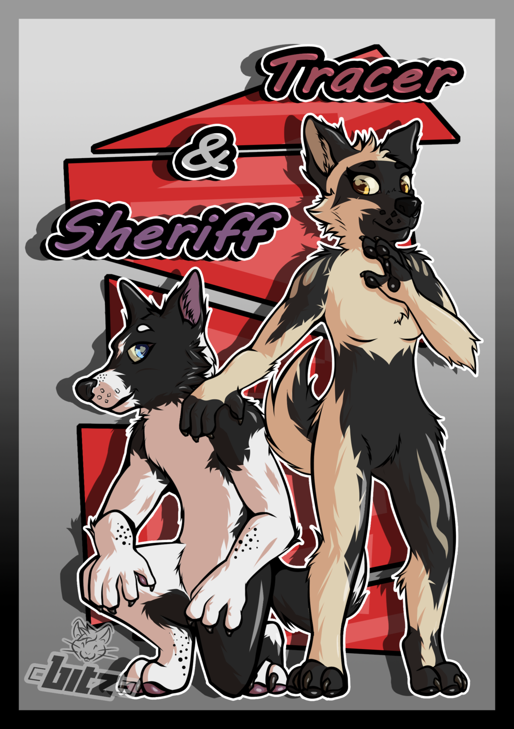 [Request Speedpaint] - Sheriff & Tracer the German Shepherds