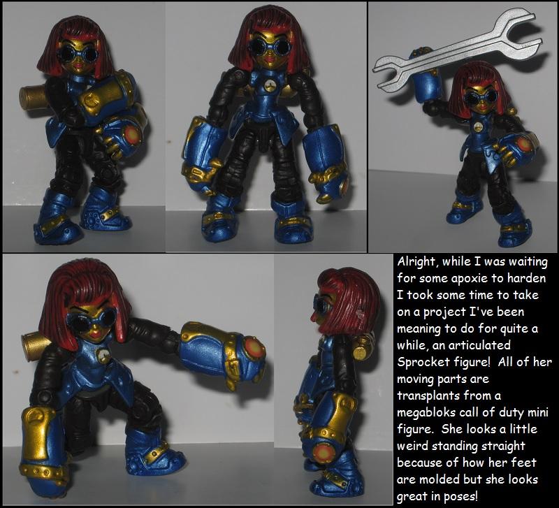 Quickie custom: Articulated Sprocket — Weasyl