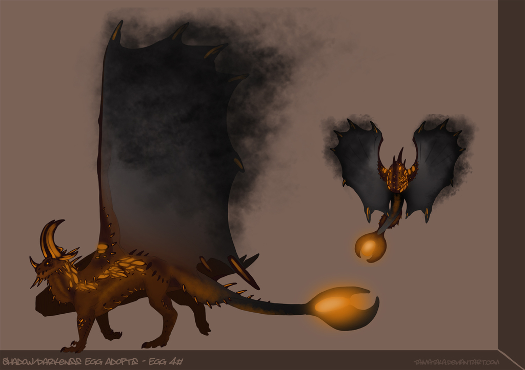Shadow/ Darkness Egg Adopts - Egg 4#