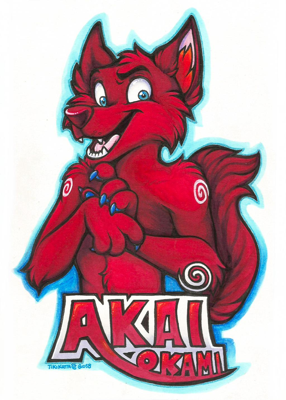 Akai Okami Badge (Commission)