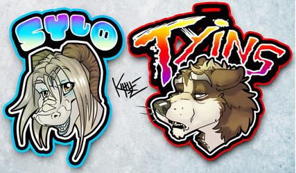 Badges - Sylo & Tyins