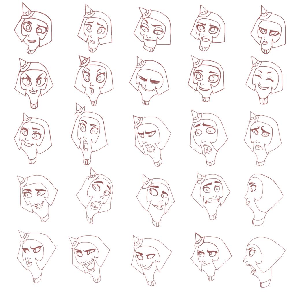 Taro - Expression Sheet - ILLUS1