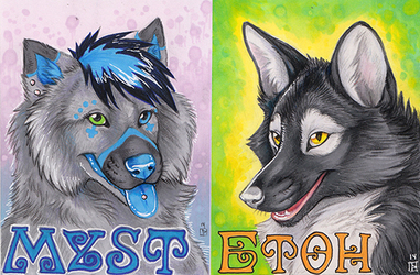 Etoh and Myst Full Color Badges - BLFC