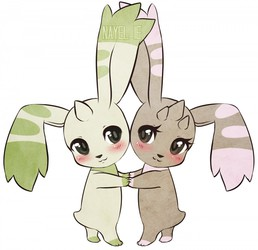 Terriermon and Lopmon