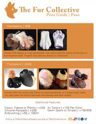 Price Guide- Handpaws, Feetpaws