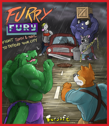 """Furry Fury"" Arcade Flyer"