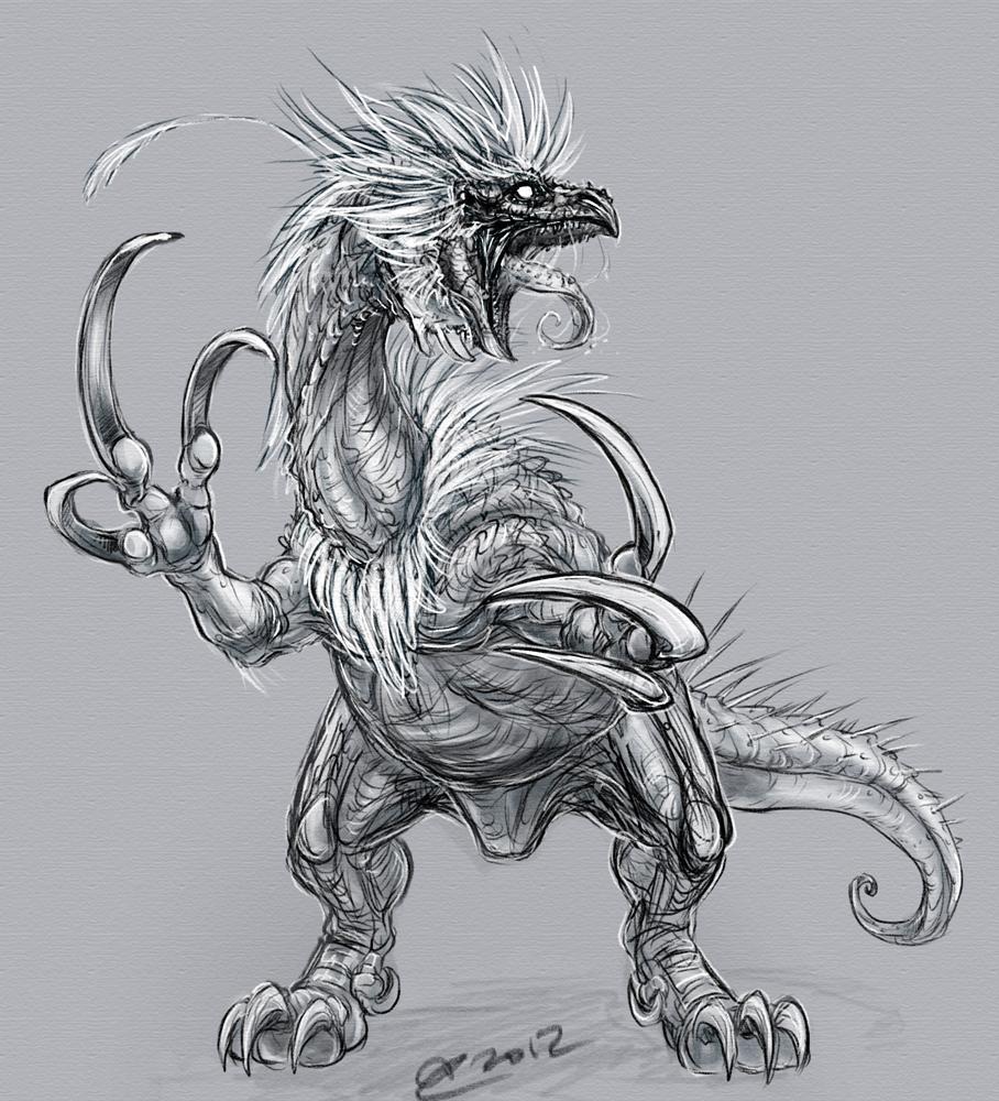 Sketch Therizinosaurus
