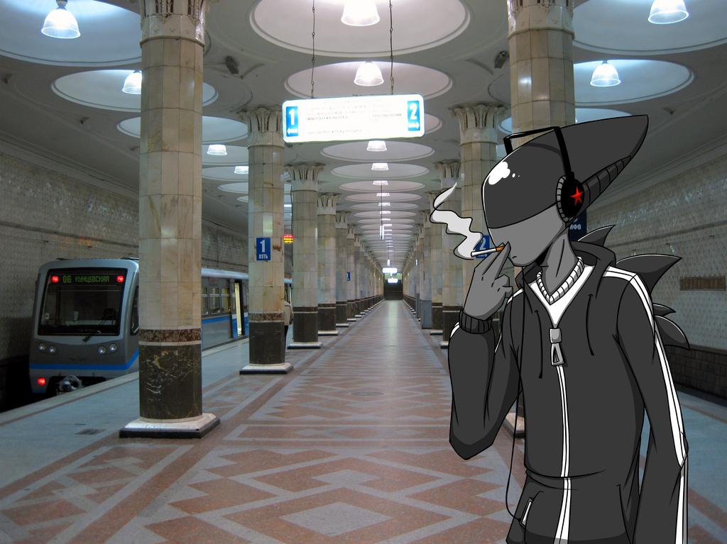 Artem on a subway
