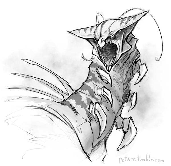 Alien-Bust Sketch