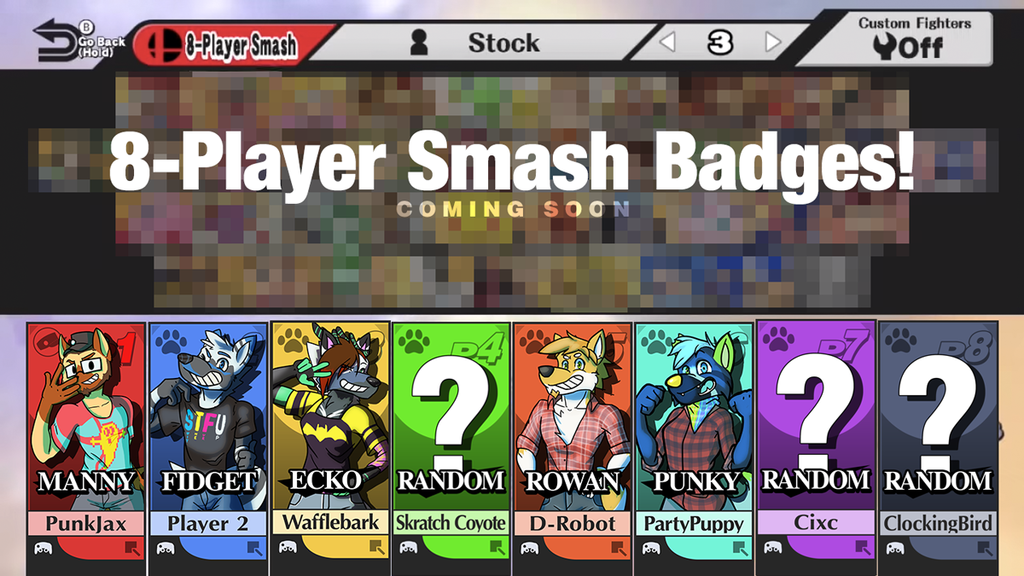 Featured image: 8-Player Smash Badges!