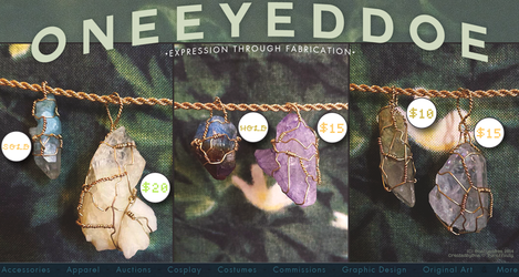 Wire Wrapped Crystals: For sale 5/6