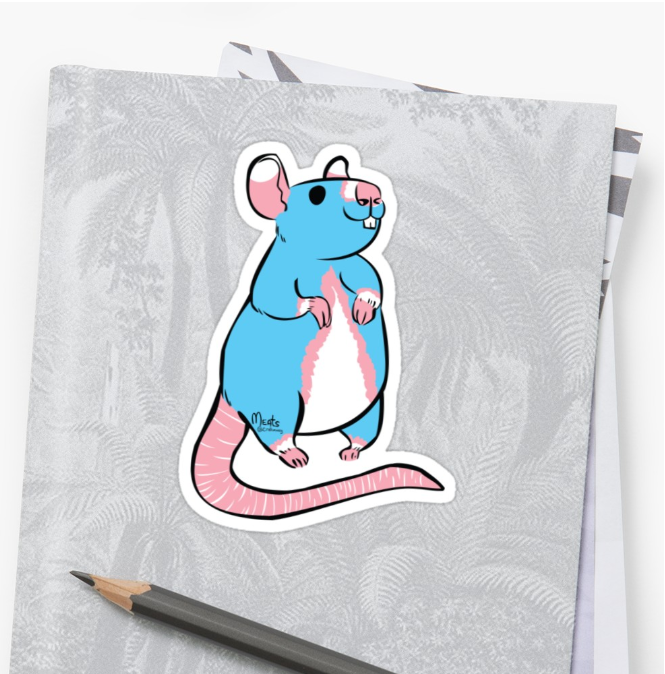 Standing Rat Sticker