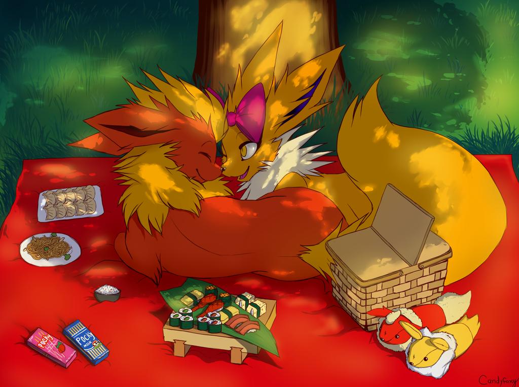 Asian-food picnic <3