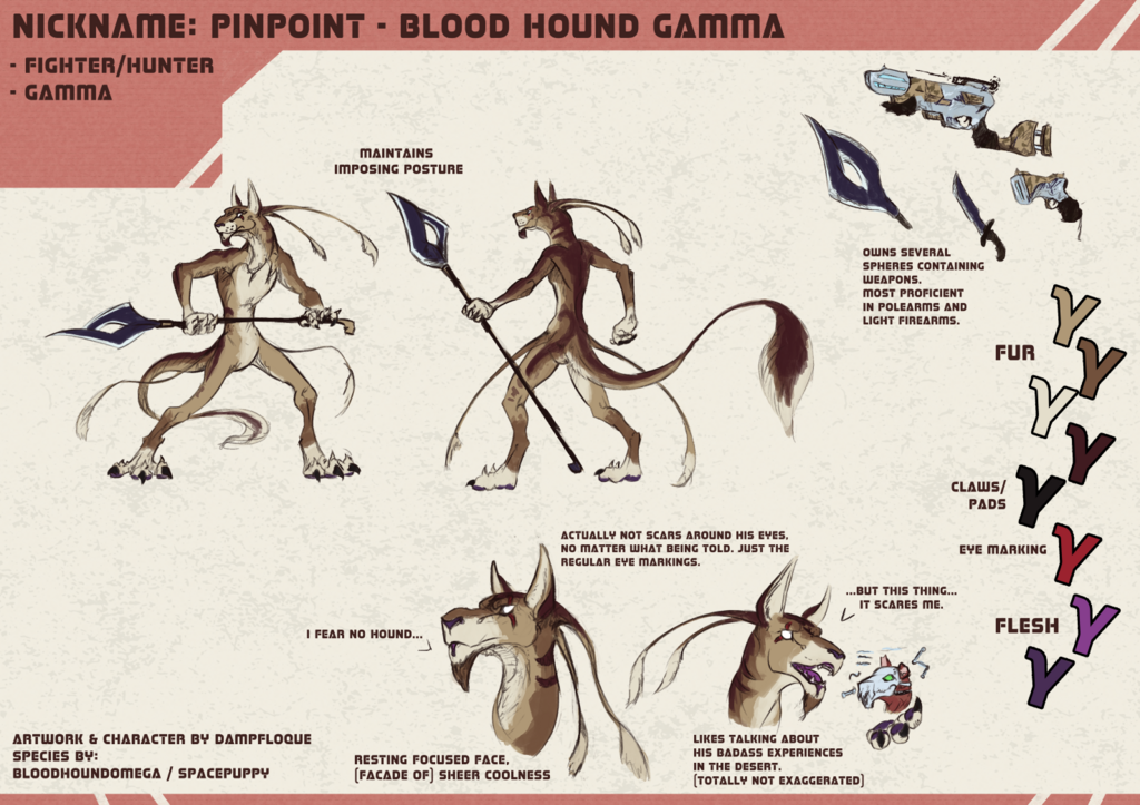 Featured image: [P] Character Sheet: Spacepuppy - Pinpoint
