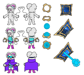 Gimmick - Reference Sheet / Concept art