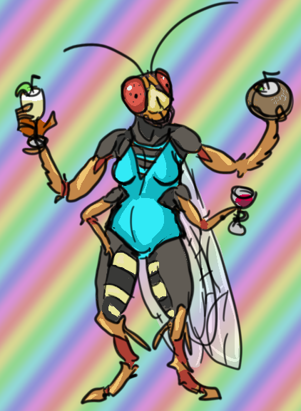 Beach Party Cicada Killer