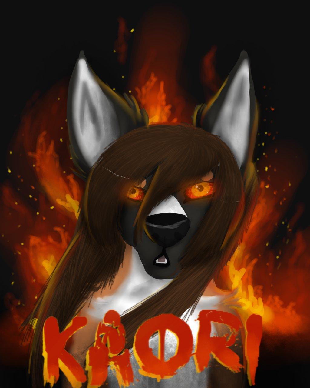 kaori digital painting badge