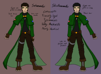 Salamander and Skullamander outfit/human updated