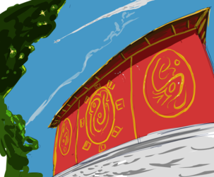 Temple Wall Doodle