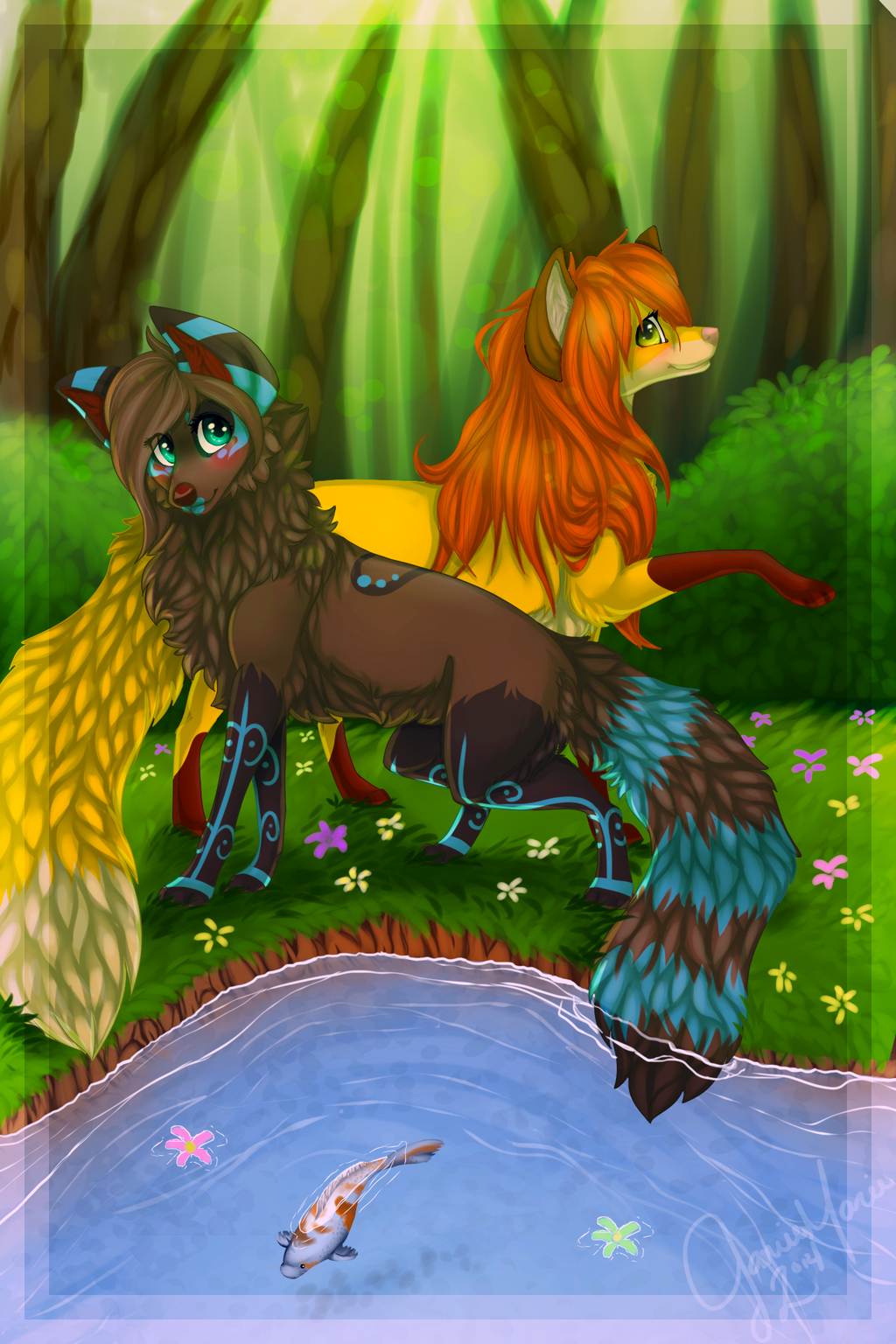 Two Foxes
