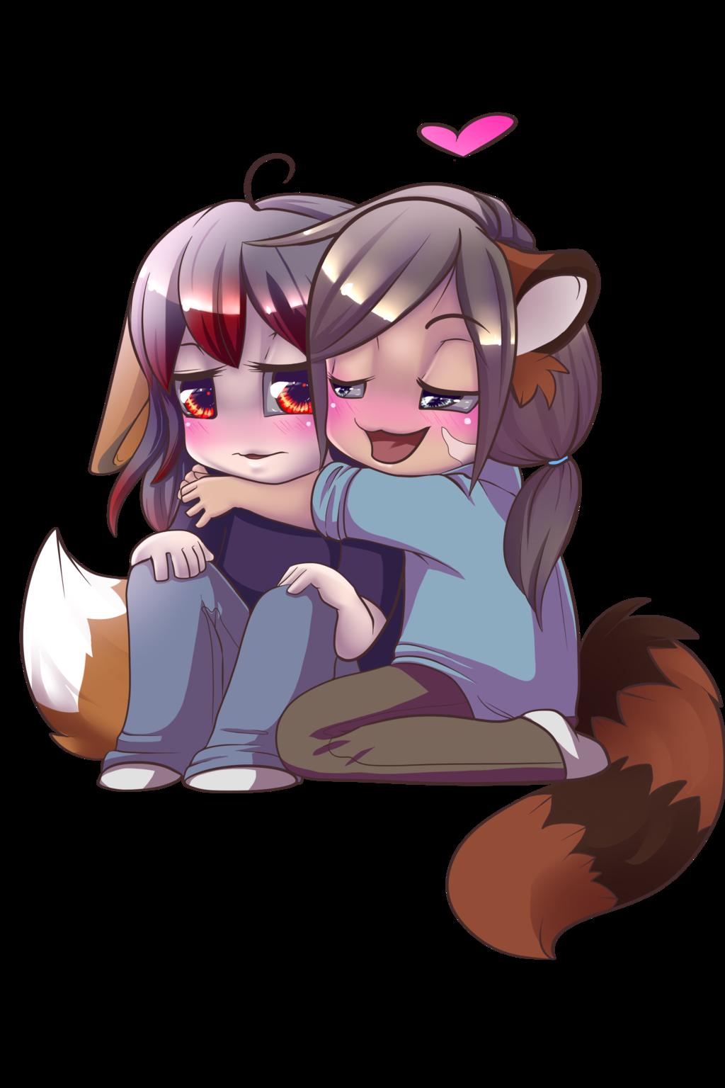 Commission: Chibi snuggles