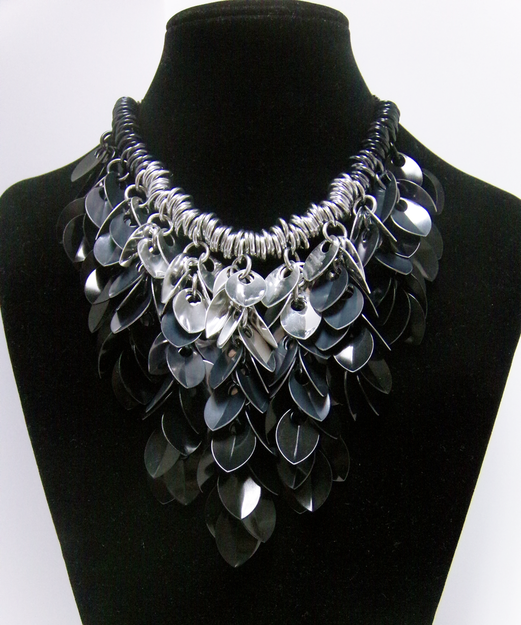 Most recent image: Monochrome Scale Statement Necklace
