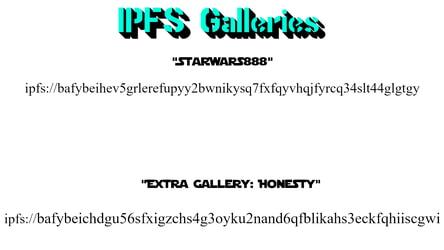 IPFS Gallery QR Links