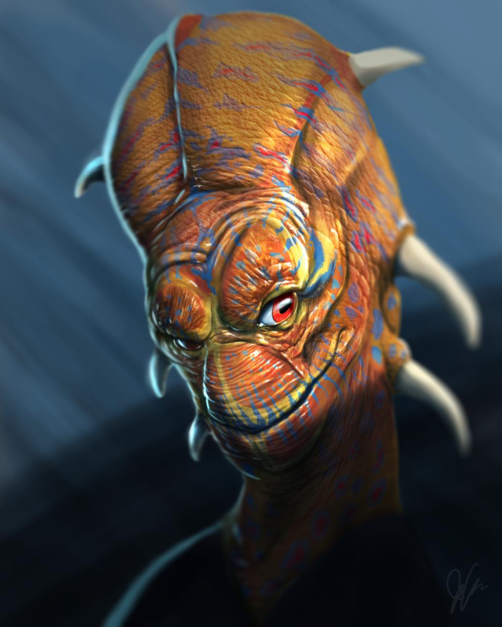Most recent image: Alien Aaron Blaise Tutorial
