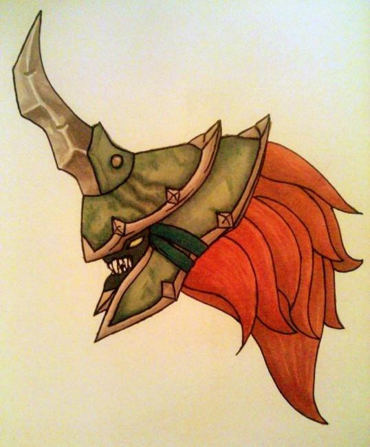Most recent image: DK Helm Practice Sketch 2