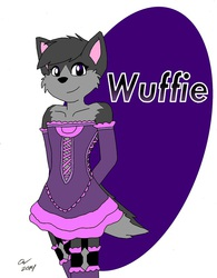 Gift art: Wuffie the wolf