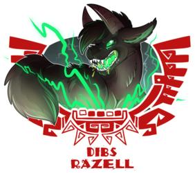 [commission] MH4U Badge - Dibs Razell