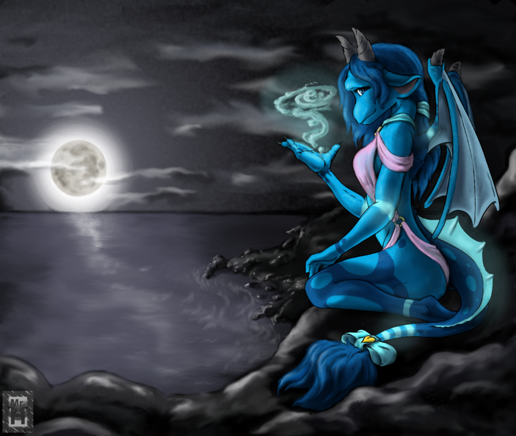 Most recent image: Watergleamng in the moonliight