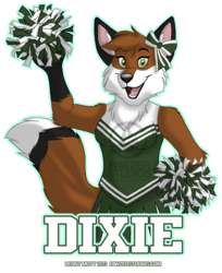 Dixie Cheerleader Badge