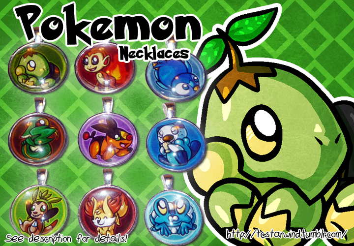 Pokemon Starters Necklaces For Sale 2