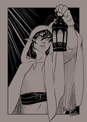 Inktober 10 Lantern