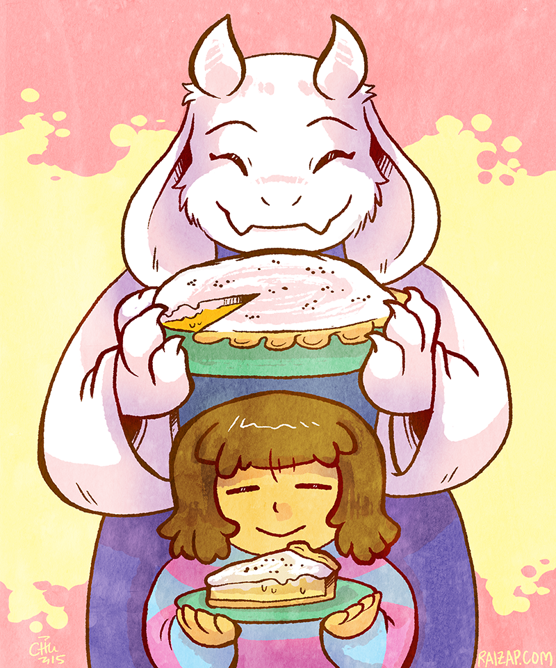 Toriel and Butterscotch-cinnamon Pie