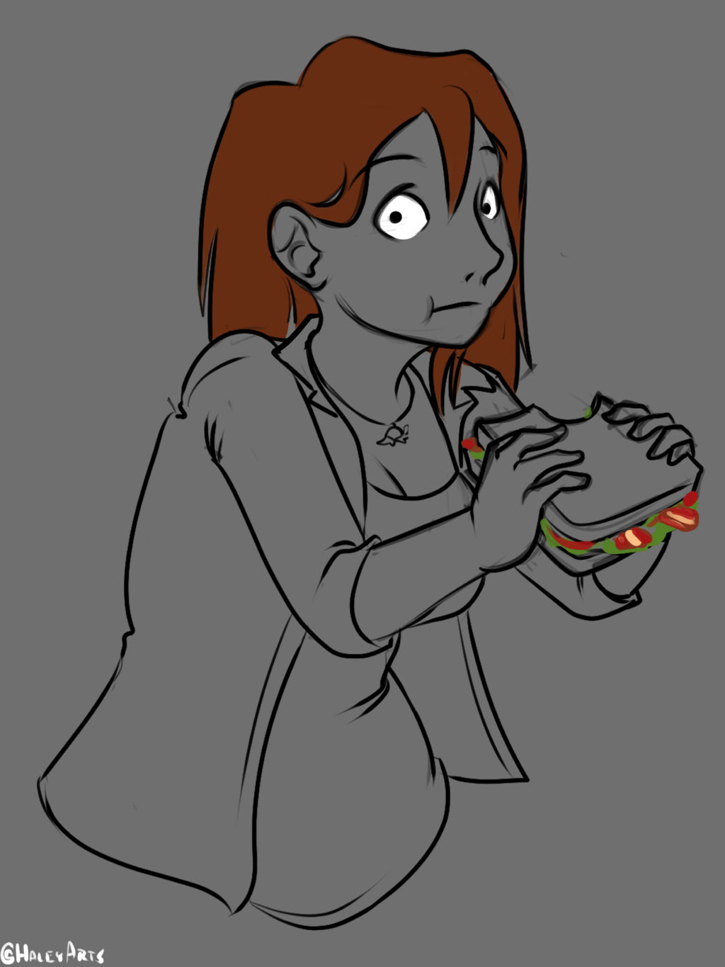 Connie Can't Enjoy Her Sandwich