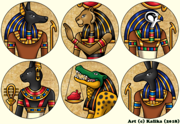 Ancient Egyptian Buttons 2018