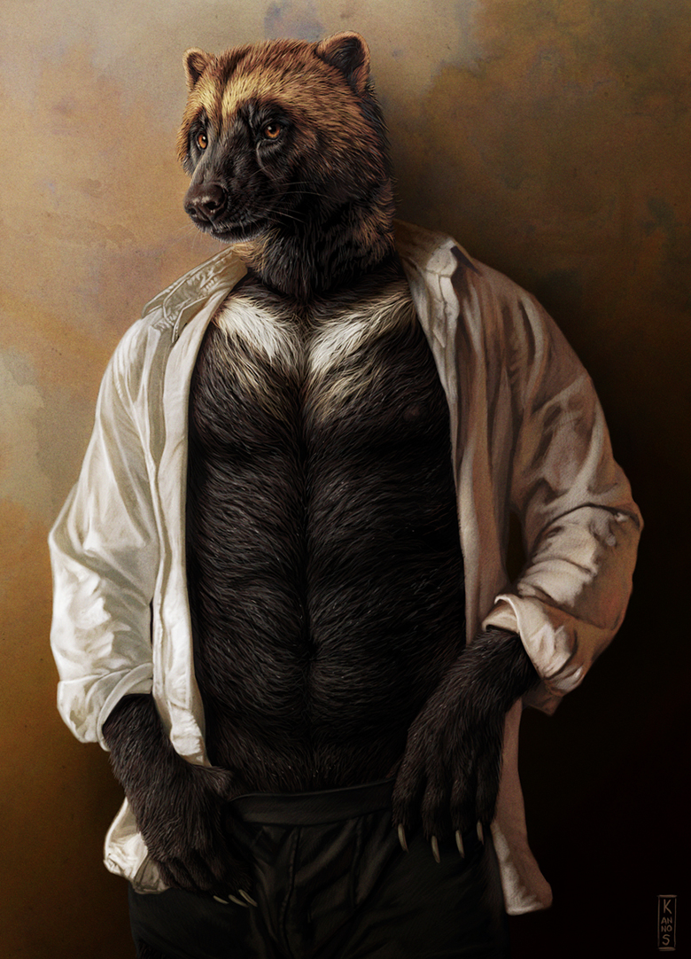 One Effing Realistic and Gorgeous Gulo - by Kannos