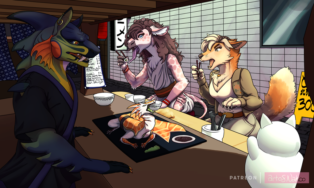 Artfight Attack: Sushi comes to life