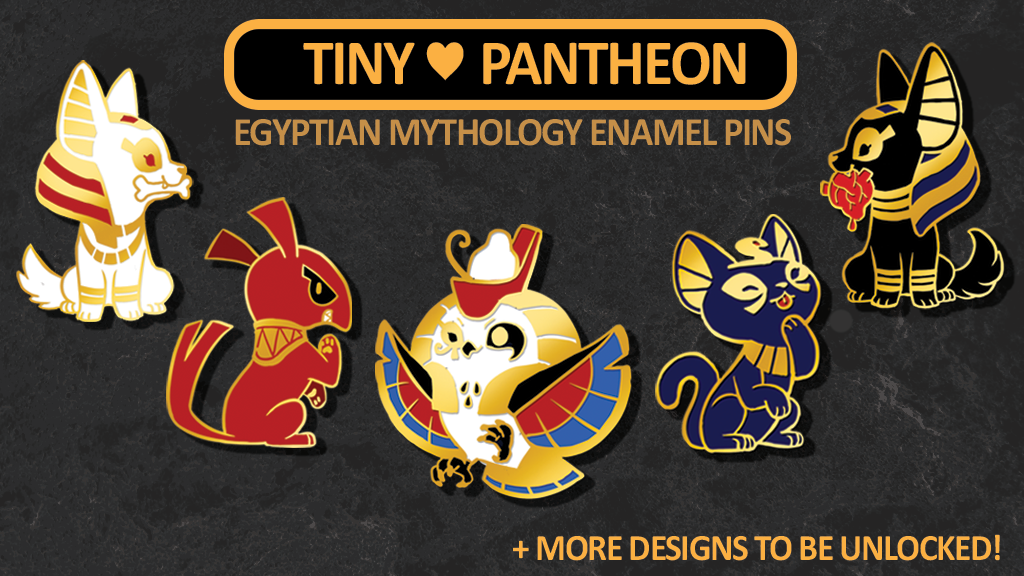 Most recent image: TINY PANTHEON Pin Kickstarter LIVE!