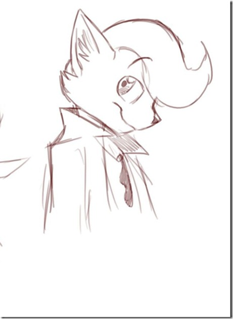 Paimon as a Cute Doodle