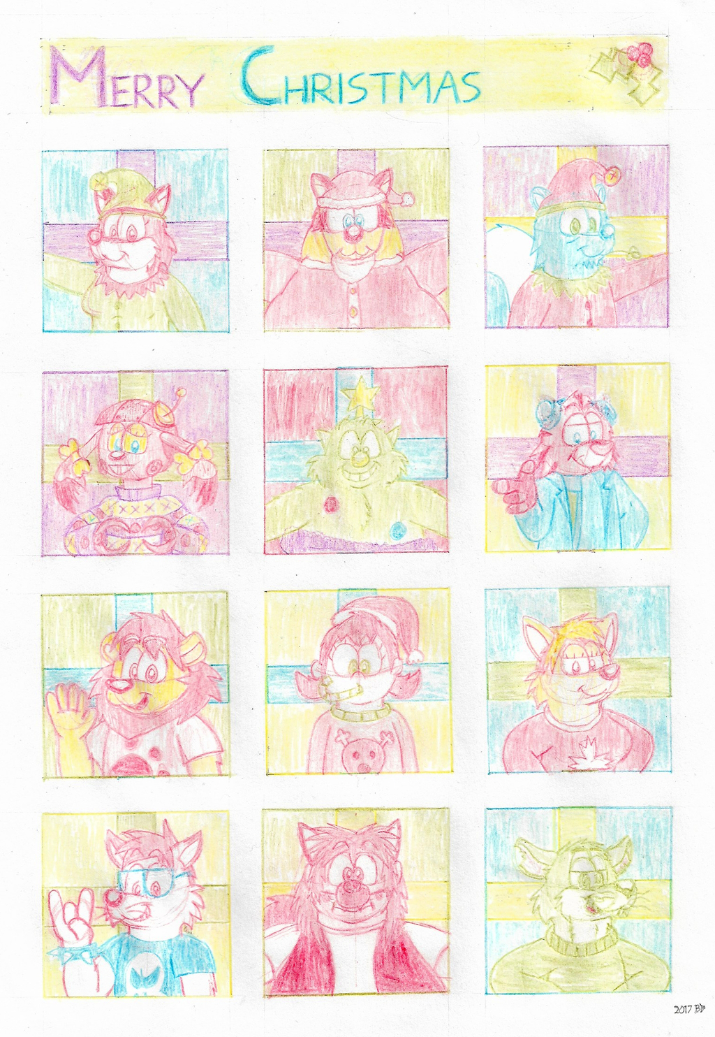 Twelve Characters Of Christmas