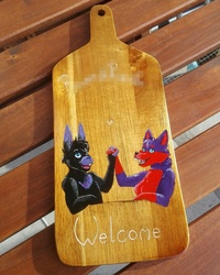 Dusty and Fleur welcome sign